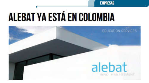 Fotografía que ilustra la noticia de salud de Alebat Education sobre Alebat ya está en Colombia