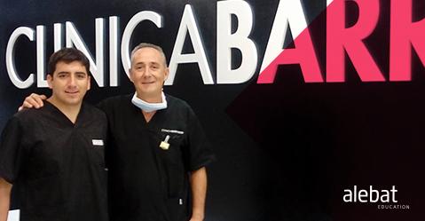 Fotografía que ilustra la noticia de salud de Alebat Education sobre El alumno Gustavo Becerra comienzas su practicas en la Clínica Barrado