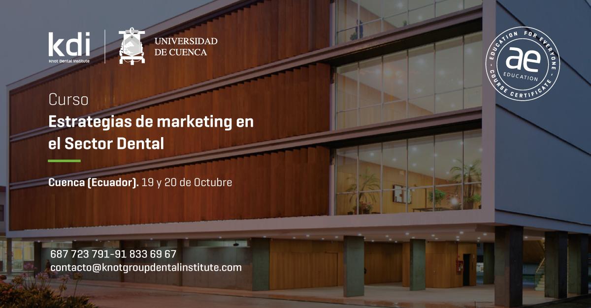 """Fotografía que ilustra la noticia de salud de Alebat Education sobre Nuevo Curso Presencial sobre """"Estrategias de Marketing en el Sector Dental"""" en Ecuador"""