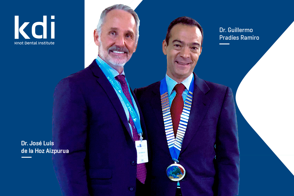 Fotografía que ilustra la noticia de odontología de Knotgroup Dental Institute sobre El Dr. Guillermo Pradies y el Dr. José Luis de la hoz participan en la 42nd Meeting of the European Prosthodontic Association