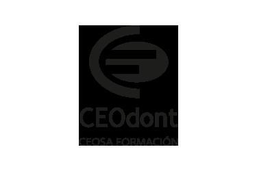 Imagen que representa el logo negro del partner ceodont de la plataforma de odontología de Inspiria