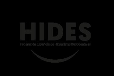 Imagen que representa el logo negro del partner HIDES federacion española de higienistas bucodentales de la plataforma de odontología de Inspiria